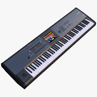 synth keyboard korg 3D model