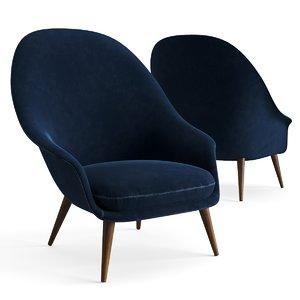 3D chair gubi lounge