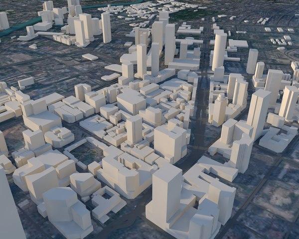 chengdu city 3D model