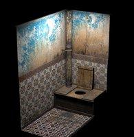 Vintage Wooden Toilet Model