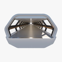3D adams bridge canary wharf model