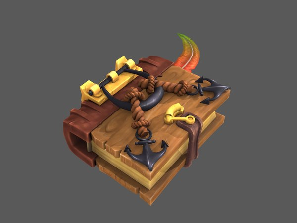 3D stylized book model