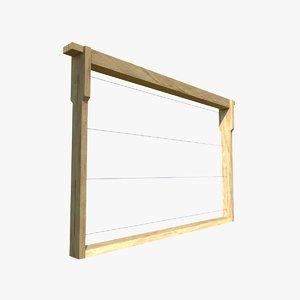 honeycomb frame 3D
