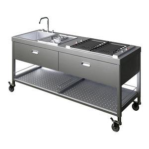 3D outdoor kitchen model