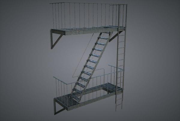 3D stairscase pbr octane