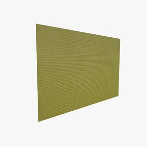 3D wax foundation honeycombs