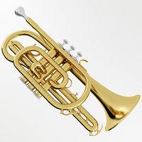 cornet musical instrument 3D model
