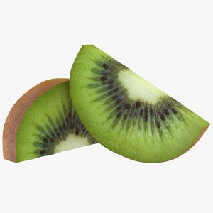 3D realistic kiwi slices model