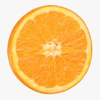 3D realistic orange slice model