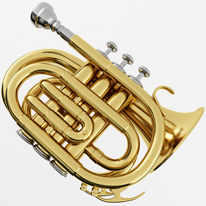 3D model pocket trumpet