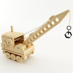 3D toy crane model