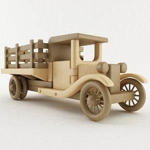 3D toy farm truck model
