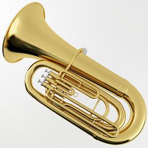 3D tuba model