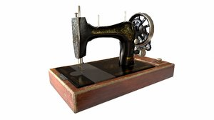 3D model old singer sewing machine
