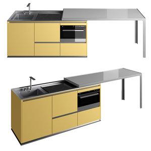 compact kitchen 3D