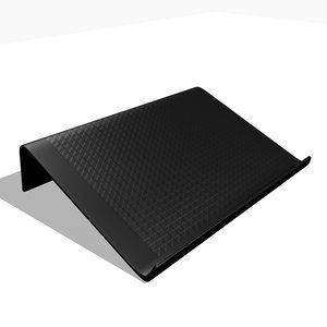 3D laptop pad model