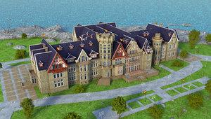 3D palace magdalena building city