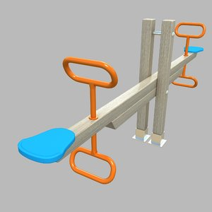 3D seesaw teeter playground