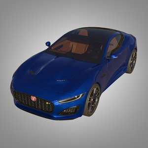 3D f-type r coupe 2021 model