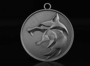 witcher medallion model