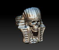 Pharaoh Skull Ring