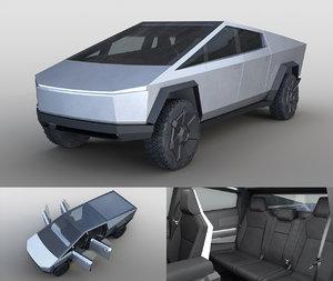 2019 tesla cybertruck 3D model