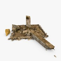 broken monument 3D model