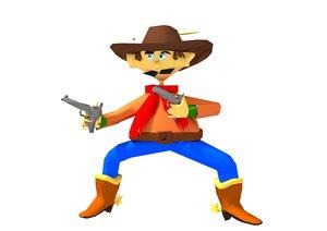 cartoon cowboy model