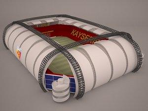 3D model kayseri arena stadium football soccer