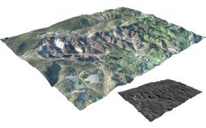 3D large heath landscapes netherlands model