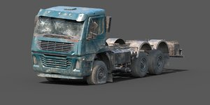 3D rusty abandoned truck model