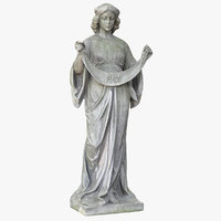 woman bunting statue 3D model