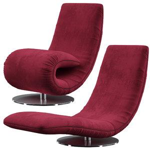 tonin armchair ricciolo 3D
