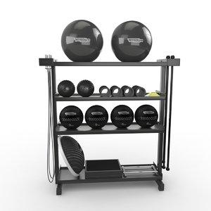 gym tech 3D model