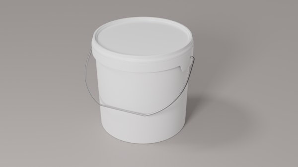 bucket plastic paint model