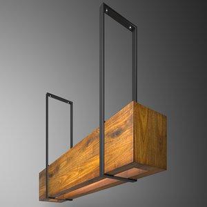 3D wooden light box model
