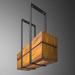 wooden light small 3D