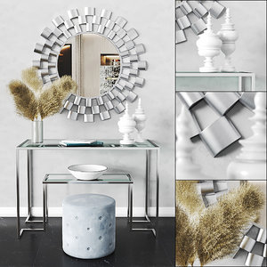 arielle tiered wall mirror 3D