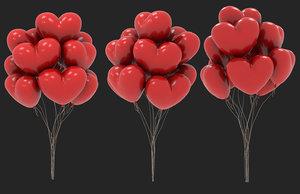 balloon heart shape model