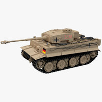 german tiger 1 panger 3D