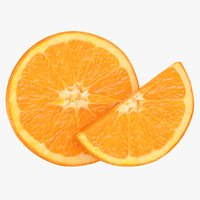 realistic orange slices 3D