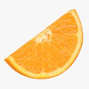 realistic half orange slice 3D model