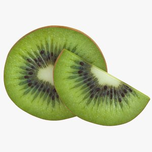 3D realistic kiwi slices