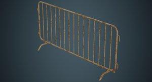 crowd barrier 2b 3D model