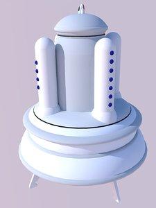 3D model ship babidi nave