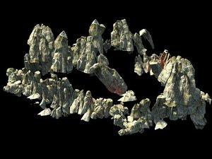 stone rock mountain 3D model