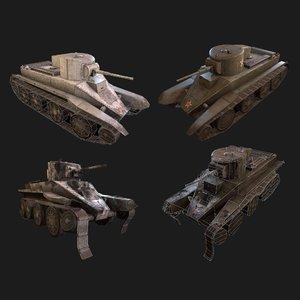 bt-2 pbr ready tank 3D model