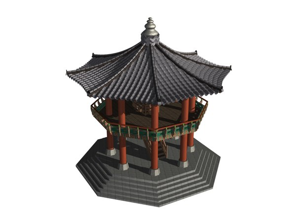 korea dancheong palgakjeong 3D model
