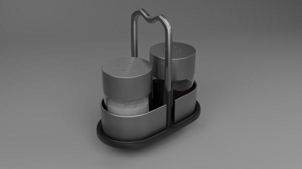 saltceller pepperbox pepper 3D model