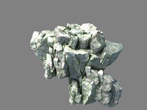 stone rock mountain model